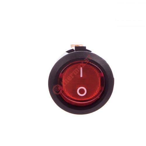 Выключатель круглый одноклавишный (06)